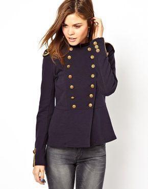 chaqueta militar mujer azul - Buscar con Google