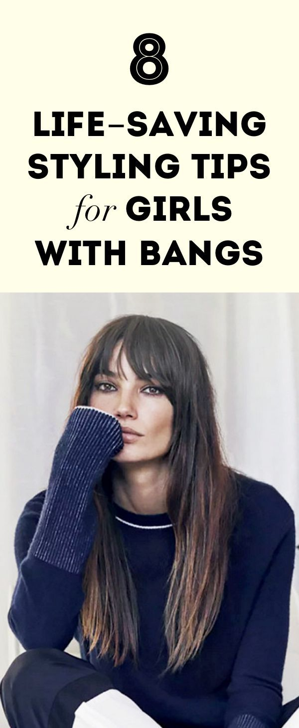 8 Life-Saving Styling Tips for Girls With Bangs