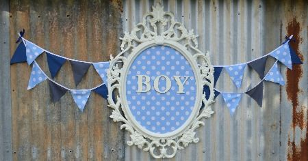 Baby Boy blue polka dot. Baby shower backdrop using ikea UNG frame