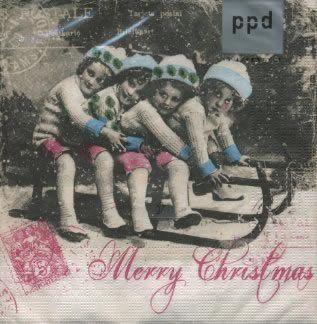 Vintage kerstservet van servettenkopen.nl