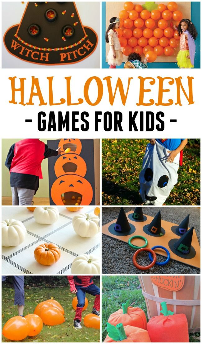 These really simple and not-too-scary Halloween games for kids will help you host the best Halloween party ever! #Halloween #games #forkids