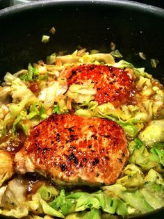 pork chops & cabbage | made with love & sarcasm/This is delicious. Followed the recipe exactly. Will make again.