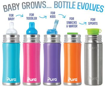 5oz Kiki Stainless Steel Water Bottle for Infants and Toddlers - Pura Stainless Steel Water Bottles