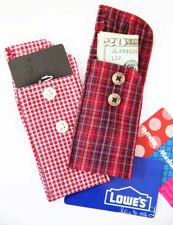 recycled shirt cuff pouch                                                                                                                                                                                 More