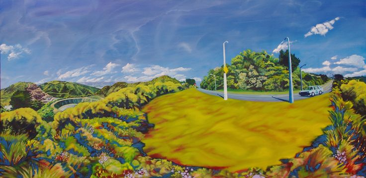 """Burma Road"" Oil on Canvas, 200cm x 100cm."