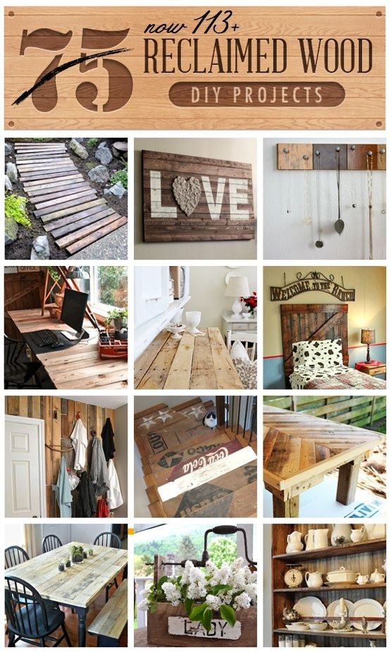 225531893811866766 113+ Reclaimed Wood DIY Projects all in one clipboard! Curated from  featured on Funky Junk Interiors  Love the pathway (pop out letters from a board