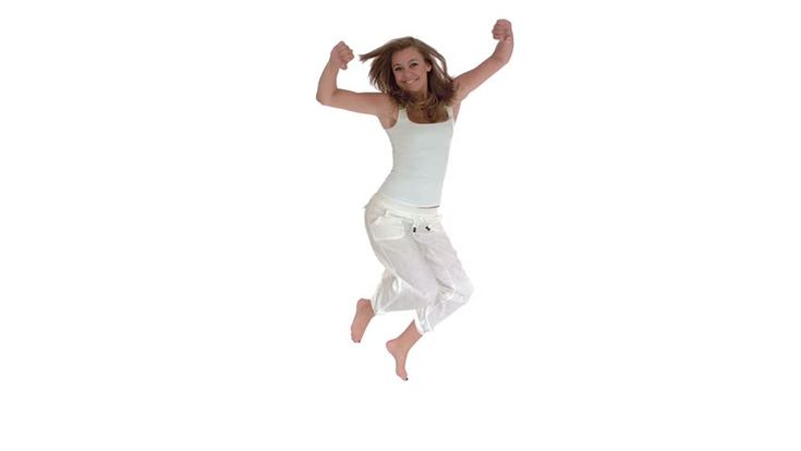 Happy Woman Jumping For Joy Stock Footage Video 2975680 - Shutterstock