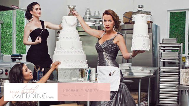 Remember Kaley Cuoco's stunning upside down chandelier wedding cake? Well we're chatting with her cake designer, Kimberly Bailey from The Butter End, in today's #WeddingWednesday video! Join us as she talks about how she got her start designing wedding cakes and how her ingredients set her apart from others