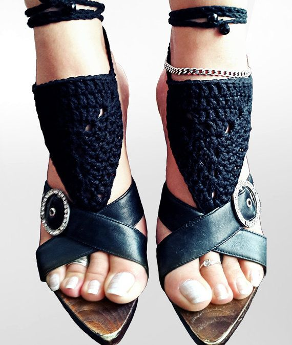 Crochet Barefoot Sandals, Foot jewelry, Wedding Crochet Sandals Lace shoes-Beach Wedding sandals