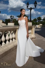 wedding dress with lace applications Veronica from Tina Valerdi