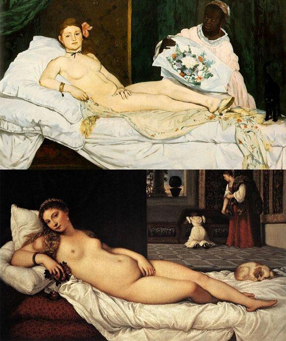 Manet y Tiziano (Olympia y Venus)