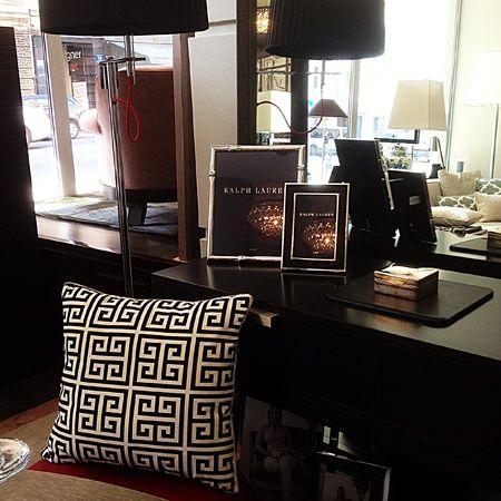 MIALIVING Greek Pillow, Interior: Casa Mia Warsaw #greek #pillows #greekkey #interiors #frames #ralphlaurenhome