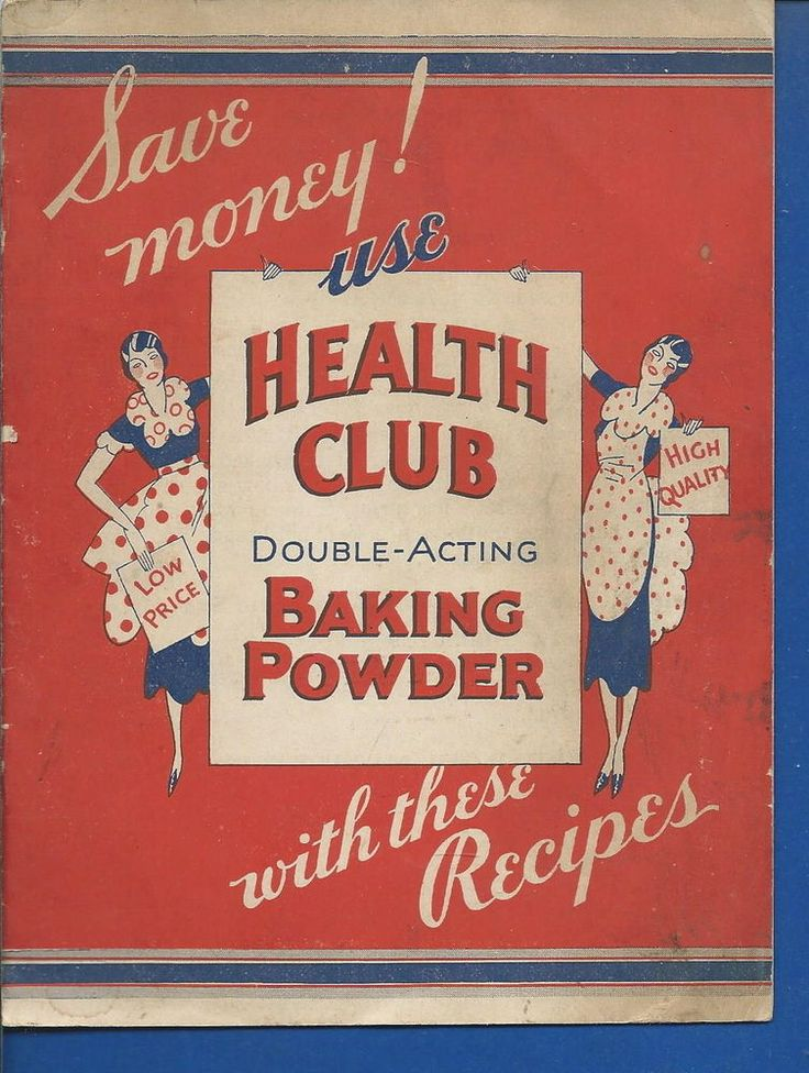 AO-044 - 1932 Health Club Baking Powder Advertising Recipe Booklet  Vintage