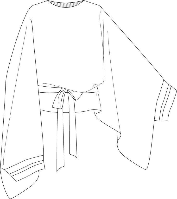 flat fashion sketch