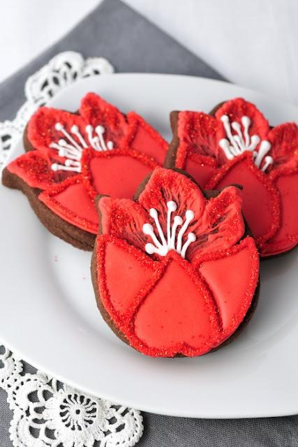 Haniela's: Pretty Tulip Cookies