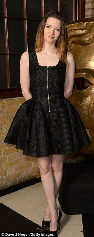 Celebrating talent: Newly-single actress Talulah Riley put on an elegant display in a shor...