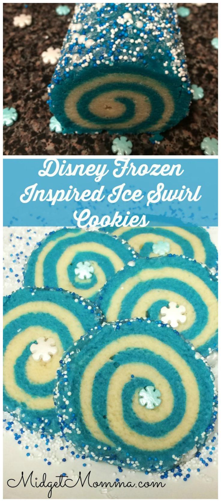 Frozen Party Ideas - Frozen Swirl Cookies