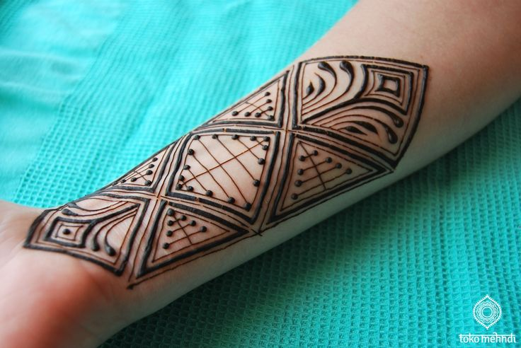 Geometrical henna patterns | Toko Mehndi                              …