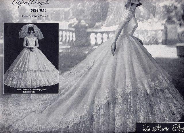 1963 Modern Bride, Alfred Angelo. Millie Motts, via Flickr