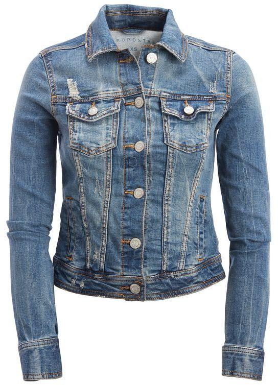 f71216a8717 Seriously Stretchy Medium Wash Denim Jacket