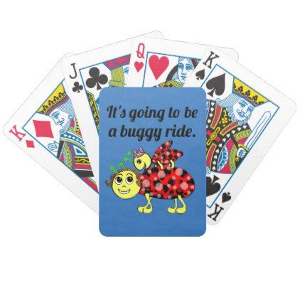 Ladybug Movie Buff Stack The Deck Bicycle Playing Cards - cyo diy customize unique design gift idea