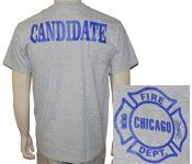 Chicago Fire Department CANDIDATE T-shirt (As seen on television)