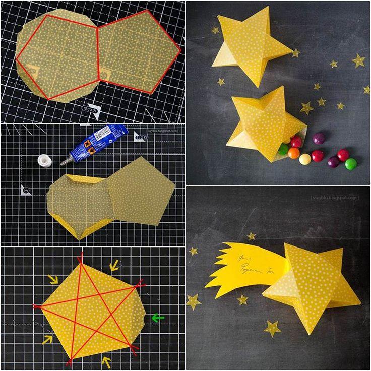 How to DIY Cute Simple 3D Paper Star Gift Box | iCreativeIdeas.com Follow Us on Facebook --> https://www.facebook.com/icreativeideas