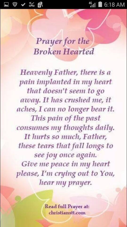 Prayer for the broken hearted