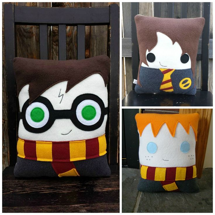Harry Potter trio set, decorative pillow #DraftStoppers