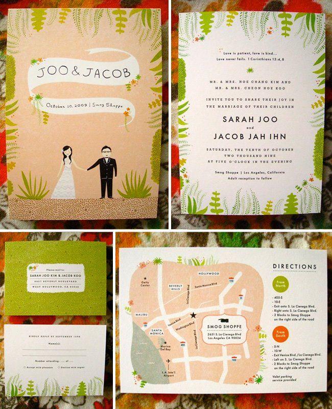 illustrated invitations.