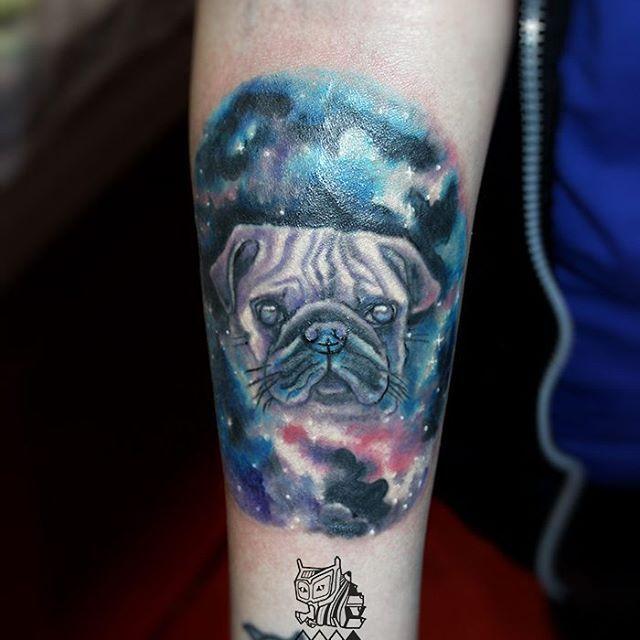 #мопс #pug #space #космос #watercolor #акварель #tattoospb #tattoo #tattooartist #tattooart #тату #татуспб #psy #animal #artwork #taot #tattoorandom #sorestudio #paint #ink #inked #tattooed #cutetattoo #colortattoo #tattoomaster #mywork #собака #пес #портрет #portrait