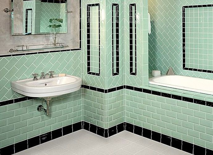 May Be Itu0027s Not So Obvious From The First Sight But Green Can Be A Great  Color For Creating Vintage Atmosphere In Your Bathroom. Part 93