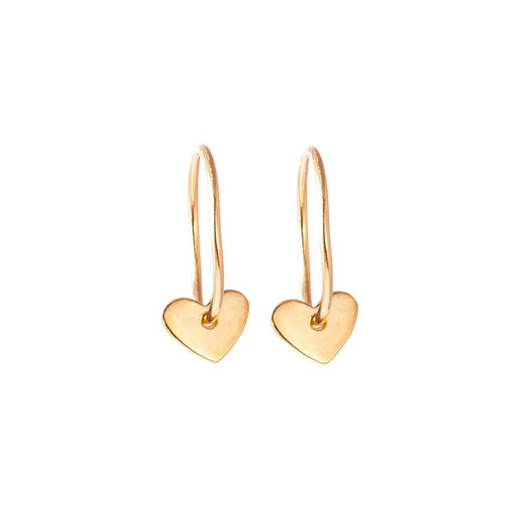 Gold Heart Earrings- £40.00