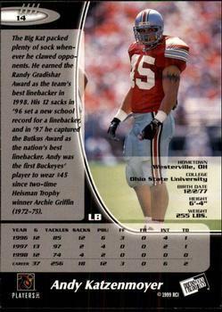 1999 Press Pass #14 Andy Katzenmoyer Back