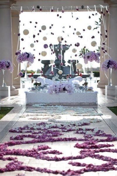 Wedding at St Regis, / fabulous alter & aisle design <3
