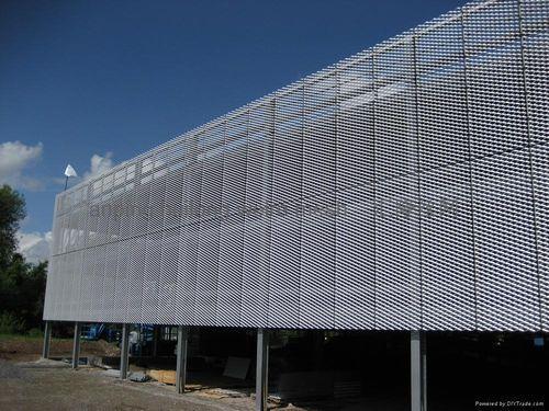 Metal Lozenge Wire Mesh Facade Cladding Zsb 8 Huilong