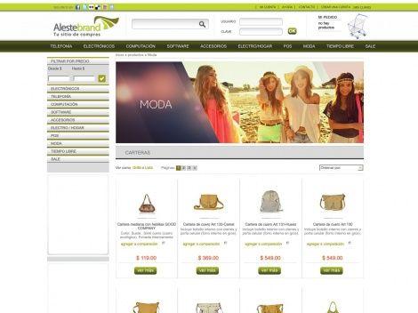 Sección de Carteras de la tienda online ALESTEBRAND