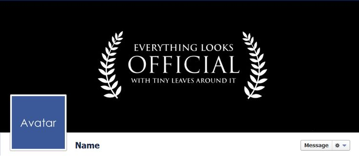 Everything Looks Official Facebook Cover.  For more visit http://www.quality-cover.com