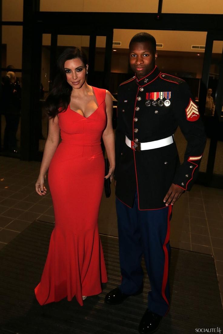 Kim Kardashian attends the Marine Corps Ball in Greenville