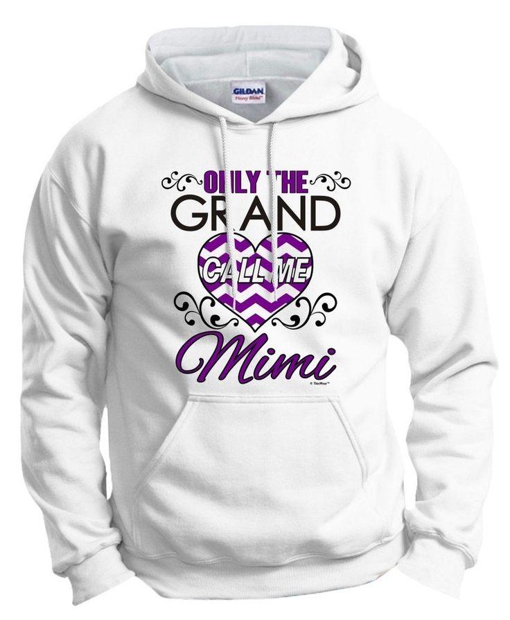 Mimi Hooded Pullover Sweatshirt - Custom Jackets - Mimi Christmas Gift - Mimi Stuff - Cute Women's Sweaters aDZQOFj