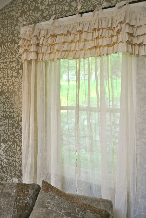 Ivory Shabby Chic Bedroom Curtain by PaulaAndErika on Etsy, $95.00