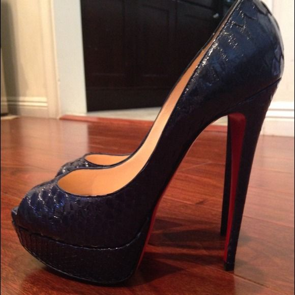 Christian Louboutin Lady Peep 38.5 8.5 SOLD EMAIL ME AT BB74bb74@yahoo.com. eBay Seller SPOOCHIEMEE. I HAVE MANY MORE CL SHOES AND CHANEL LISTED ON EBAY TAKE A LOOK SPOOCHIEMEE SELLER NAME Christian Louboutin Shoes