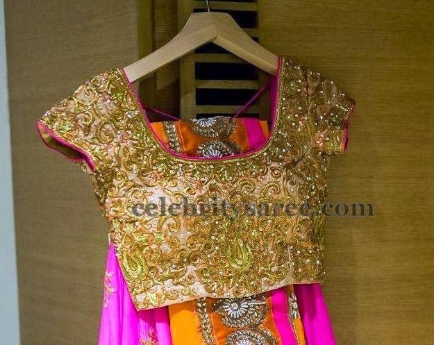 Attractive Gold Blouse by Varuna Jithesh | Saree Blouse Patterns