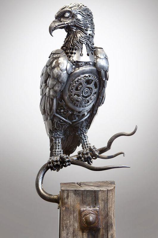 Alan williams metal artist osprey my sculptures