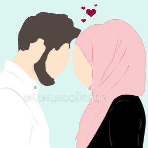 Muslim Couple Illustration