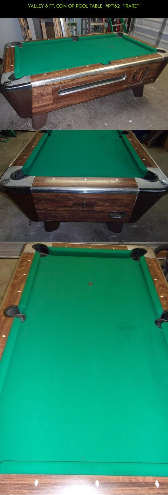 Pool table legs accessories for sale - Valley 6 Ft Coin Op Pool Table Pt162 Rare