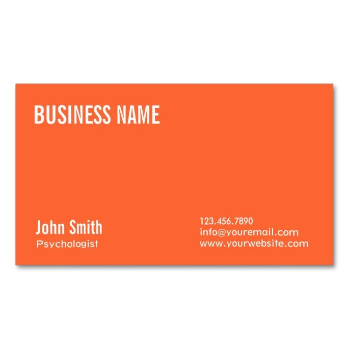 2138 best psychology psychologist business cards images on pinterest plain orange psychologist business card reheart