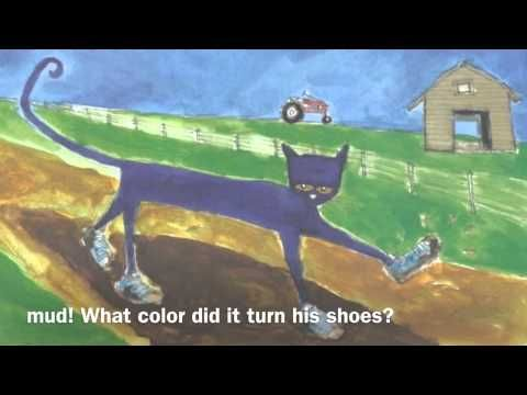 Pete The Cat I Love My White Shoes- Read Aloud Video with music.