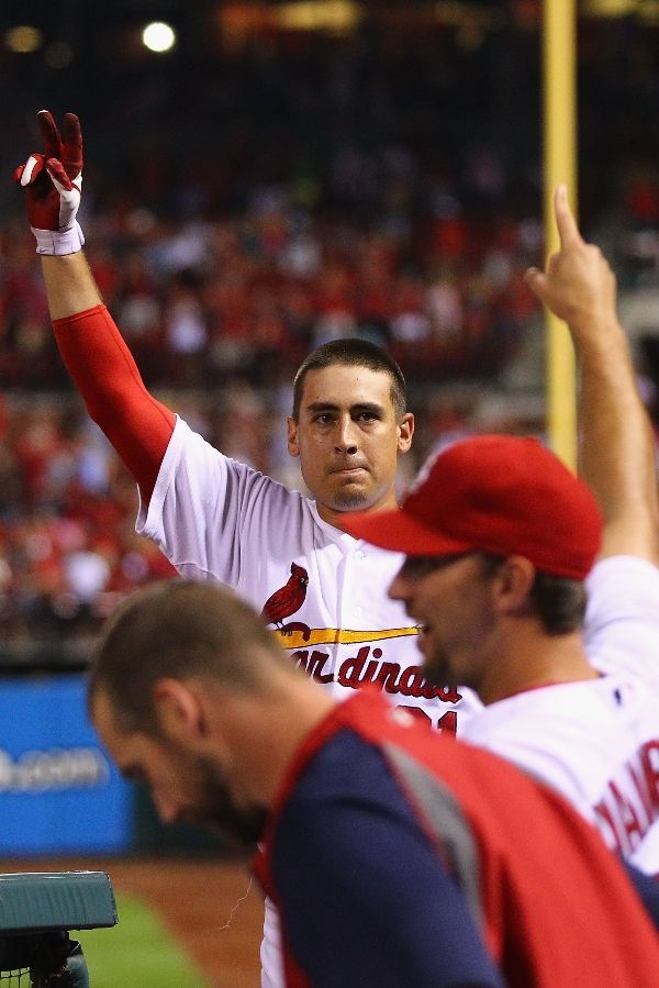 Allen Craig Takes A Curtain Call After Hitting A Grand Slam Against  Reliever J.J. Hoover Of