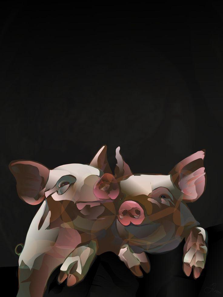 PIGSELS (Megapigsels) - Made on iPad. App: Paintbook. © Brian Jensen Felde